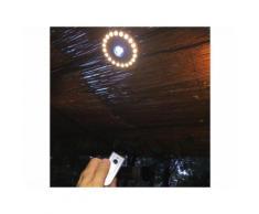 Anneau éclairage LED à aimanter avec télécommande pour parasol et tonnelle