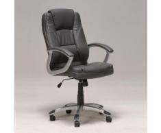 Chaise de bureau sur roulettes avec accoudoirs L69xP64xH116cm BORIS Gris