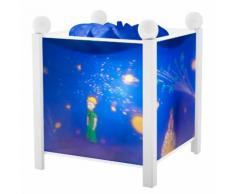 Lanterne magique Le Petit Prince bleu et blanc 16.5x16.5xH.19cm LE PETIT PRINCE