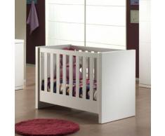 Lit bébé à barreaux avec tiroir en bois pour couchage 60 x 120 cm LARA