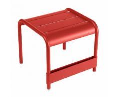 Table basse de jardin / repose pieds Aluminium 42x43cm LUXEMBOURG Coquelicot