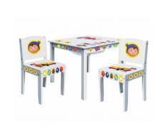 Table enfant avec filet de rangement + 2 chaises NEIGE Oui-Oui