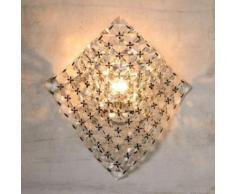 Applique murale en métal et cristal hauteur 29 cm Cristo