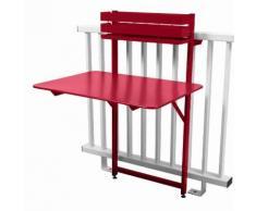 Table de balcon pliante rabattable en acier hauteur 115cm BISTRO Piment d'espelette