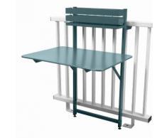 Table de balcon pliante rabattable en acier hauteur 115cm BISTRO Gris orage