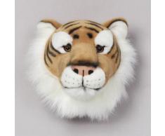 Trophée peluche tête d'animal 100% polyester et fibres Trophy Tigre