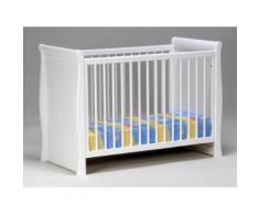 Lit bébé design 60x120cm sommier réglable 3 hauteurs bois Hêtre Epicéa BEAR Laqué Blanc