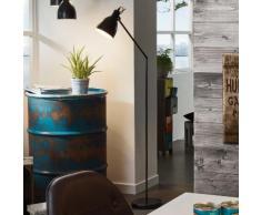 Lampadaire liseuse orientable en métal noir hauteur 137cm Priddy
