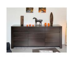 Enfilade 3 portes 1 tiroir - Décor Café - L180xP45xH84cm OPALE
