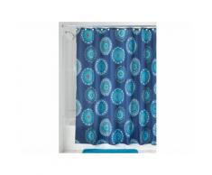 Rideau de douche 100% polyester motif rosace 183x183cm PADMA Bleu