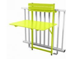 Table de balcon pliante rabattable en acier hauteur 115cm BISTRO Verveine