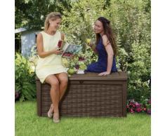 Coffre de jardin en résine tressée 130x70x63cm - 400L RIO