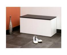 Meuble à chaussures / Banc 15 paires Longueur 89 cm ALDO Blanc / Noir