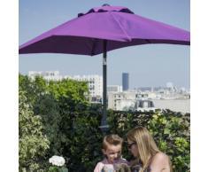 Parasol rectangulaire acier et polyester 180g avec manivelle 230x120cm Violet
