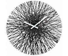 Horloge murale fils de plastique D.45 cm SILK Noir
