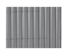 Canisse en PVC simple face Gris 1.5m