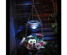 Suspension pour fleurs avec lanterne solaire Acier 2 LED Multicolore BLOOM