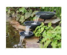 Fontaine de jardin avec 3 coupes en polystone MISTAYA
