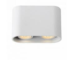 Lucide - Plafonnier rectangulaire arrondi double Bentoo LED - Blanc