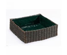 INTERMAS - Carré potager en osier tressé VEGETAL GARDEN 75 x 75 cm