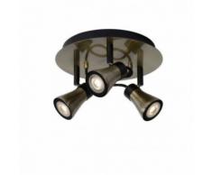Lucide - Spot Bolo LED triple rond bronze