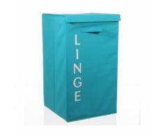 Panier à linge écriture turquoise