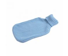 Collection GM-Bouillotte PVC tricotée 2L bleue