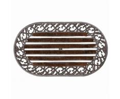 Paillasson tapis porte d'entrée essuie-pieds fonte
