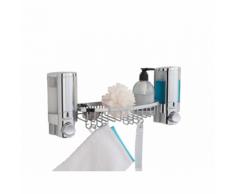 Compactor Double distributeur de savon mural chromé avec panier
