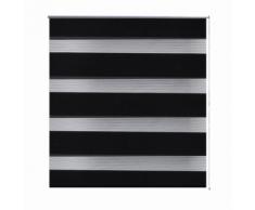 Store enrouleur noir tamisant 120 x 175 cm fenêtre rideau pare-vue volet roulant