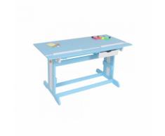 Bureau enfant meuble chambre bleu plateau inclinable