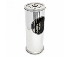 Cendrier extérieur avec poubelle en acier inoxydable 37 cm