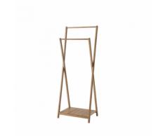 Compactor Portant double en bambou «Malmo»