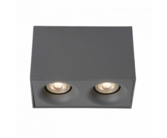 Lucide - Plafonnier rectangulaire double Bentoo LED - Gris