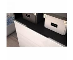 meuble design tv noir et crème avec led