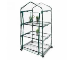 Serre de jardin métal et PVC Roulettes 70 x 130 x 50 cm jardinage plante