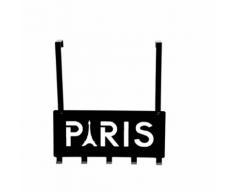 """Compactor Patère de porte """"Paris"""" noir"""