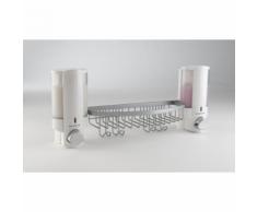 Compactor Double distributeur de savon mural blanc avec panier