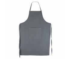 Linnea Tablier de cuisine 60x90 cm toile 100% coton PURE KITCHEN APRON - Gris