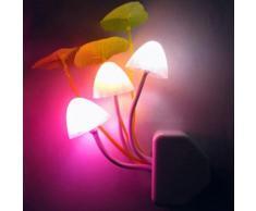 Colorful Prise d'alimentation Supply Mushroom chevet LED Night Light