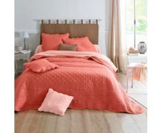 Couvre-lit style boutis Cassandre - rose corail
