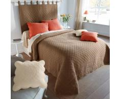 Couvre-lit style boutis Cassandre - taupe