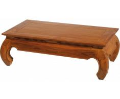 Table basse rectangulaire teck opium L116