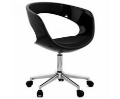 Chaise de bureau 'STRATO' noire sur roulettes