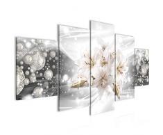 Tableau decoration murale Lys de Fleurs - XXL Impression sur Toile Salon Appartment 5 Parties - prêt à accrocher - 016653c