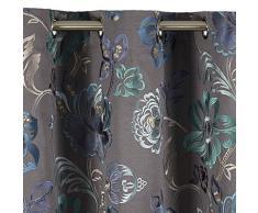 Madura Rideau à oeillets MAGELLAN Bleu à coloris multiples 135x300 cm