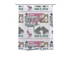 Home Fashion 69326-759 Relax Store Bateau Impression numérique avec Crochets Voile Rose/Vert 140 x 120 cm