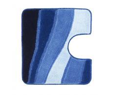 Meusch Tapis de Toilette Océan Trèfle, 55 x 50 cm, Bleu Royal