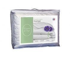 Comptoir du Linge CDLCULHA200220 Quimper Couette Polyester Blanc 240 x 220 x 5 cm