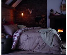 Catherine Lansfield Parure de lit Double Motif cerfs Multicolore, Coton, multicolore, Simple